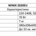 Мойка воздуха WINIX 2020EU